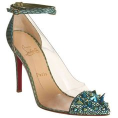 Cheap Christian Louboutin Just Picks 120mm PVC Pumps Green Red Sole Shoes For Sale,Discount Louboutins Pumps