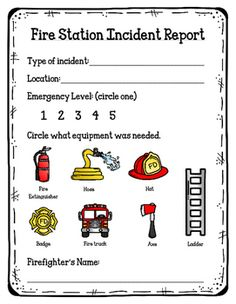 Fire Station Role Play Resources  Fire Station Themed Flashcards