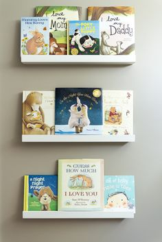 Keep these shelves at kid-level so they can reach their books easily!