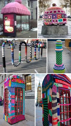 Yarn Bombing is one of my favorite things to see... just wish i could choose where to yarn bomb here in Tel Aviv ;-)