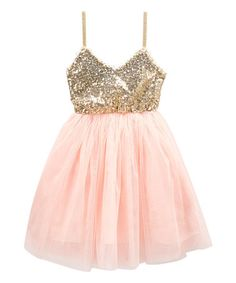 Look at this Just Couture Gold & Pink Sparkle A-Line Dress - Toddler & Girls on today! Girls Party Dress, Toddler Girl Dresses, Baby Dress, Girls Dresses, Toddler Girls, Little Girl Fashion, Kids Fashion, Sparkly Outfits, Sparkly Shoes
