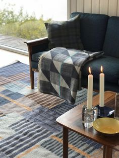LAND flat weave rug inspired by the art works of constructivist painter Adolf Fleischmann. Abstract Painters, Weave, Rug, Flat, Inspired, Inspiration, Collection, Home, Design