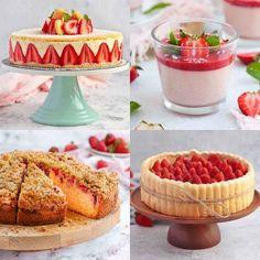 Easy Strawberry Desserts, Homemade Strawberry Cake, Strawberry Dessert Recipes, Strawberry Cakes, Summer Desserts, French Dessert Recipes, Dessert Ideas, Lemon Curd Tartlets, Gluten Free Apple Cake