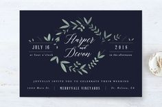 """Floral Wreath"" - Rustic Wedding Invitations in Fresh by Kelly Schmidt."