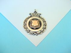 Victorian Sterling and Rose Gold Watch Fob/Pendant. $155.00, via Etsy.