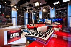Explore photos of Fox Business Studio G's TV set design in this interactive gallery of the studio. 3d Studio, News Studio, Studio Design, Tv Set Design, Stage Set Design, New Shepard, Virtual Studio, Tv Sets, Scenic Design