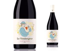 This is the design for my own wine label, a red Cotes du Rhone, to be bottled and released in spring called 'le Vendangeur' (the Harvester). Product Label, New Product, Label Design, Red Wine, Packaging, Drinks, Bottle, Creative, Wine Labels
