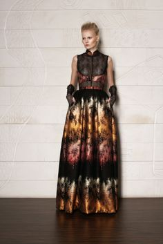 BLACK / COPPER DRESS