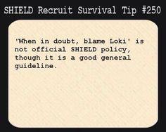 S.H.I.E.L.D Recruit Survival Tip #250