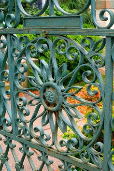 Ironwork  Love every little thing about this!