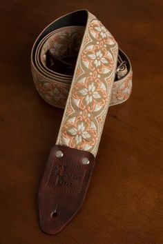 LM USA MADE Poly Electric Acoustic Guitar Strap white Praying Hands