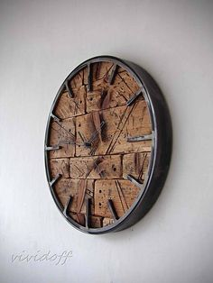 Metal Furniture, Diy Furniture, Reclaimed Wood Art, Cool Clocks, Iron Decor, Wooden Clock, Wood And Metal, My House, Woodworking