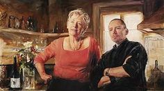 Barry McCann's painting  of Maggie Beer and Simon Bryant was hung in the 2008 Archibald Prize (Art Gallery of NSW)
