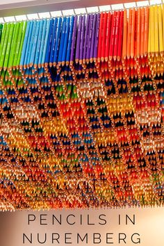 Nuremberg is the pencil capital of the world so visit one of the city's many pencil shops for a great travel souvenir.