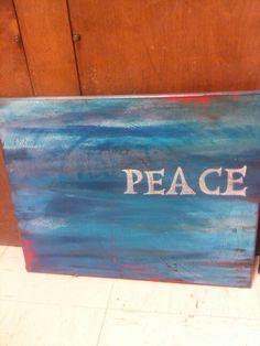 PEACE Cancer Concert Donation #worshippainting #art #TishaGoodall #acrylic
