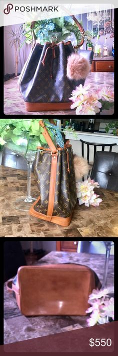 "💯 % Authentic Louis Vuitton NOE shoulder bag Authentic Louis Vuitton Noe monogram tote/shoulder bag. Like new condition! Large enough to fit anything! ze W: 10.23""H: 13.38"" D: 7.48"" Shoulder Strap/Handle Strap: 27.56""-29.13"". Strap is adjustable. Comes with key chain shown. Bundle and save 15% Louis Vuitton Bags Shoulder Bags"