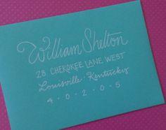 Wedding Calligraphy Addressing Envelopes by GreySnailPress on Etsy