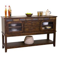 Our Santa Fe sideboard features natural slate accents. 60x18x36h