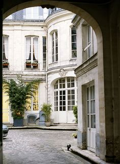 Elegant courtyard, Left Bank, Paris
