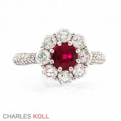 aa230ab328bed Diamond and Ruby Ring  9