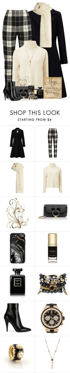 """""""Cream and Black"""" by sugerpop ❤ liked on Polyvore featuring John Lewis, MaxMara, I Love Mr. Mittens, Miss Selfridge, J.W. Anderson, Casetify, Dolce&Gabbana, Chanel, Lacey Ryan and Yves Saint Laurent"""