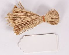 10 White Paper Tags and Twine Ties Garden by thelittlebundle, $2.50