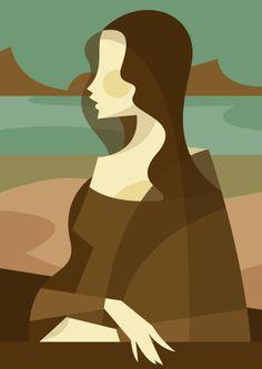 Mona Lisa [Stanley Chow] (Gioconda / Mona Lisa)- stylize a famous painting Art And Illustration, Illustrations Posters, Arte Van Gogh, Art Minimaliste, Mona Lisa Parody, Tachisme, Globe Art, Poster Design, Italian Artist
