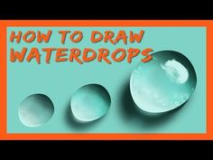 DIGITAL ART CLASS - How to draw waterdrops? In this video I'll show you an easy way to paint waterdrops in Photoshop (or other digital painting software). Photoshop Tutorials Youtube, Photoshop Actions, Lightroom, Photoshop For Photographers, Photoshop Photography, Coloring Pages, Drawings, Photo Editing, Rocks