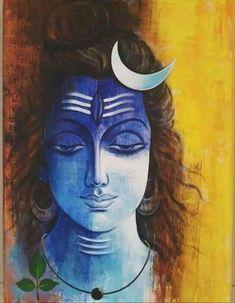 New art painting acrylic angel 26 ideas Ganesha Painting, Lord Shiva Painting, Buddha Painting, Buddha Art, Shiva Art, Hindu Art, Mahakal Shiva, Ac2, Indian Folk Art