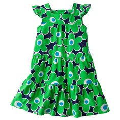 She'll look adorable in this floral emerald #dress. #JumpingBeans #Kohls