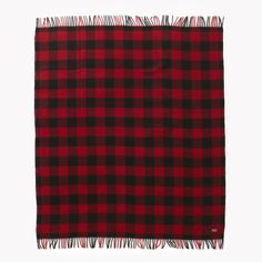 Buffalo Check Wool Throw