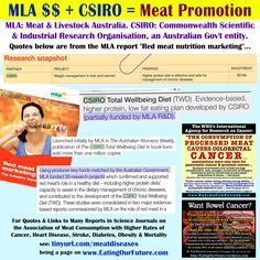 Food Politics: The Influence of Meat & Dairy Industry on Government, Education, News, Media & Health Professionals. Health Memes, Health Diet, Csiro Total Wellbeing Diet, Agriculture Industry, Degenerative Disease, Medical Journals, Best Diets, Weight Management, Health Benefits