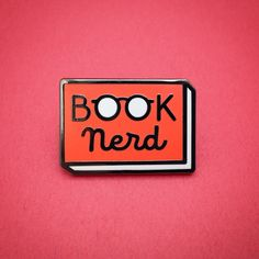 Book Nerd pin! | Pins and Zines by Andrew J. Brozyna