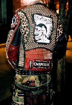 authentic punk rocker jacket / nicely done