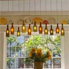 Beautiful wine glass lights