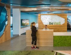 As more companies are looking to incorporate biophilic design in the workplace, we wanted to showcase some of our favorite design examples. Wooden Wall Design, Organizational Leadership, Photography Office, Box Studio, Textured Carpet, Earthy Color Palette, Forest City, Green Carpet