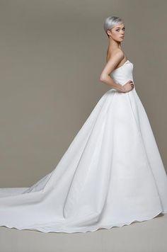 Ball Gown Wedding Dresses : Simple elegant ball gown by Elizabeth Stuart Spring 2014