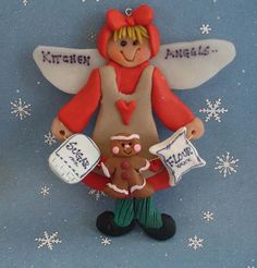 Polymer Clay Christmas Ornament Cake Topper by alongcameaspider1