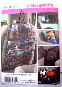 Car Organizer Visor Seat Map Holder Chic Home by MoomettesCrochet, $5.00