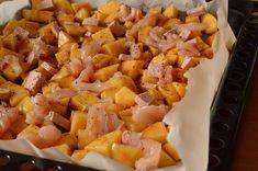 Cartofi la cuptor cu pui si cascaval - Rețete Papa Bun Hawaiian Pizza, Food, Meal, Essen, Hoods, Meals, Eten