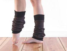Slouchy wool jersey leg warmers custom made legwarmers by jaffic