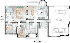 First Floor Plan of European   House Plan 65558