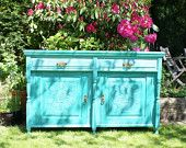 Wildgust & Graves Antique French Dresser/ Buffet Sideboard, hand-painted in Annie Sloane chalk paint