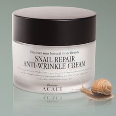 $35.95 New design! Snail repair anti-wrinkle cream is a deluxe repairing cream that protects and gives hydration to dry and rough skin. It is highly concentrated cream that contains 80% of snail mucus- EGF and various peptides.