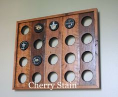 Made to order, Reclaimed Wood Hockey Puck Display by GroveWoods on Etsy