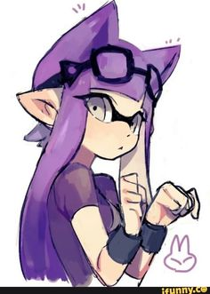 I only saved this for a joke splatnyon Splatoon 2 Art, Splatoon Comics, Neko Girl, Squid Girl, Fanart, Video Game Art, Pokemon, Manga, Chibi