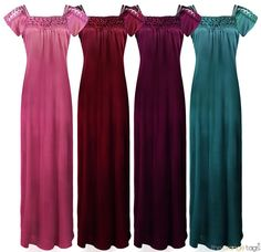 LADIES LONG NIGHTDRESS NIGHTIE LOUNGER SIZE 8-16 ON CLEARANCE