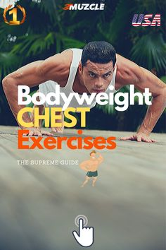 💪 The Best Bodyweight Chest Exercises. Check out our complete guide! Great Chest Workouts, Chest Workout For Men, Cable Workout, Exercise Physiology, Overhead Press, Shoulder Muscles, Body Weight Training, Core Muscles, Calisthenics
