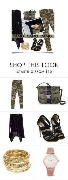 """""""Camo and Black"""" by fernshadowstudio-com ❤ liked on Polyvore featuring Nila Anthony, Twin-Set, ABS by Allen Schwartz, Larsson & Jennings and camostyle"""