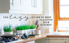 The Lazy Guide To Deep Clean Your Kitchen